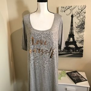 Size 18 T-shirt/tunic with love yourself on it